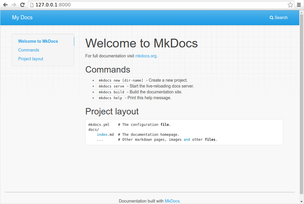 mkdocs-screenshot
